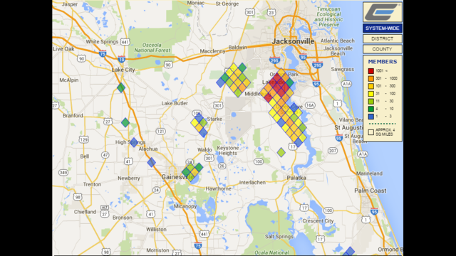 Wind Causing Power Outages Throughout Clay Electric S