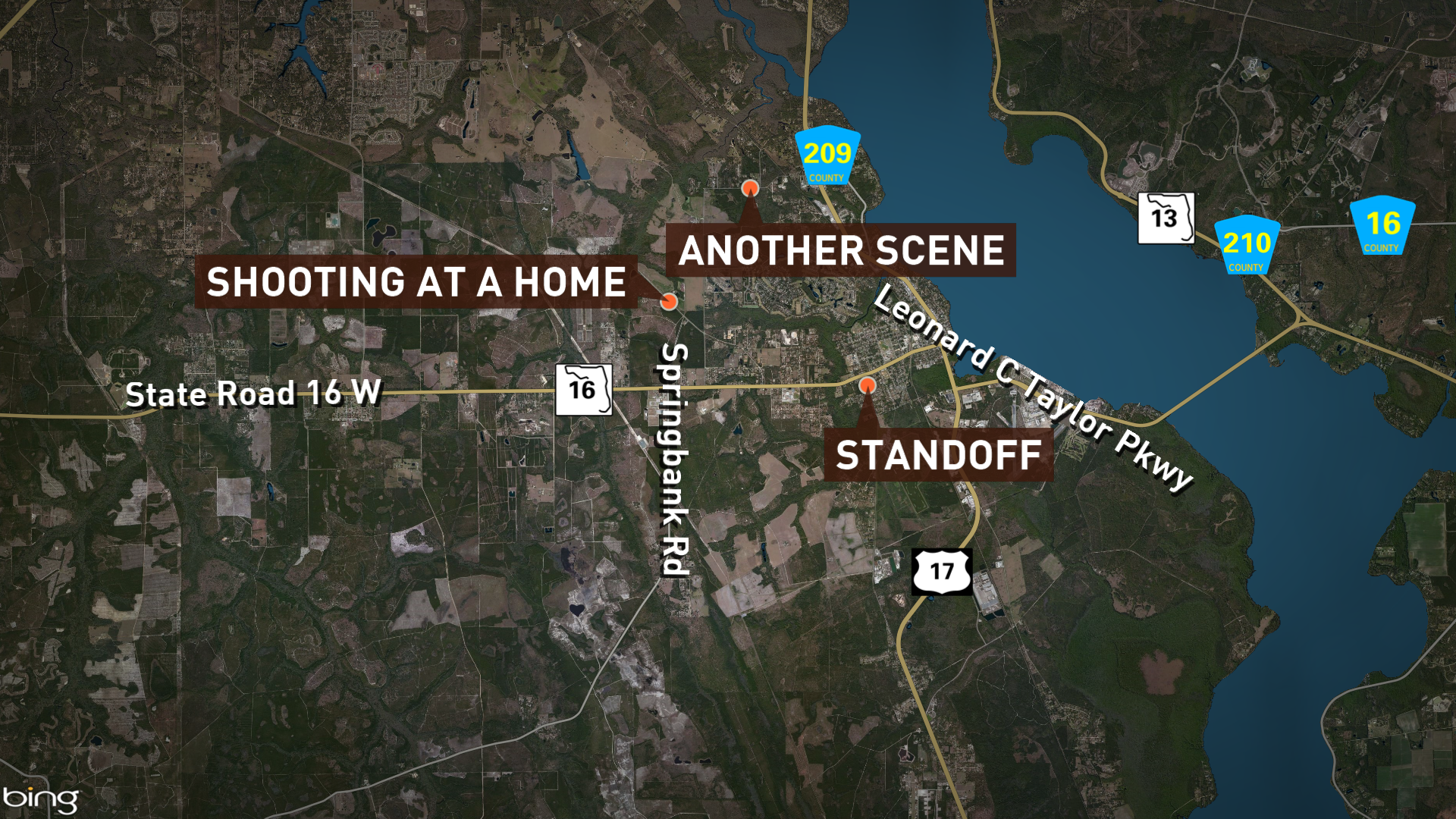 2 women, 1 man slain in Green Cove Springs; suspect at large