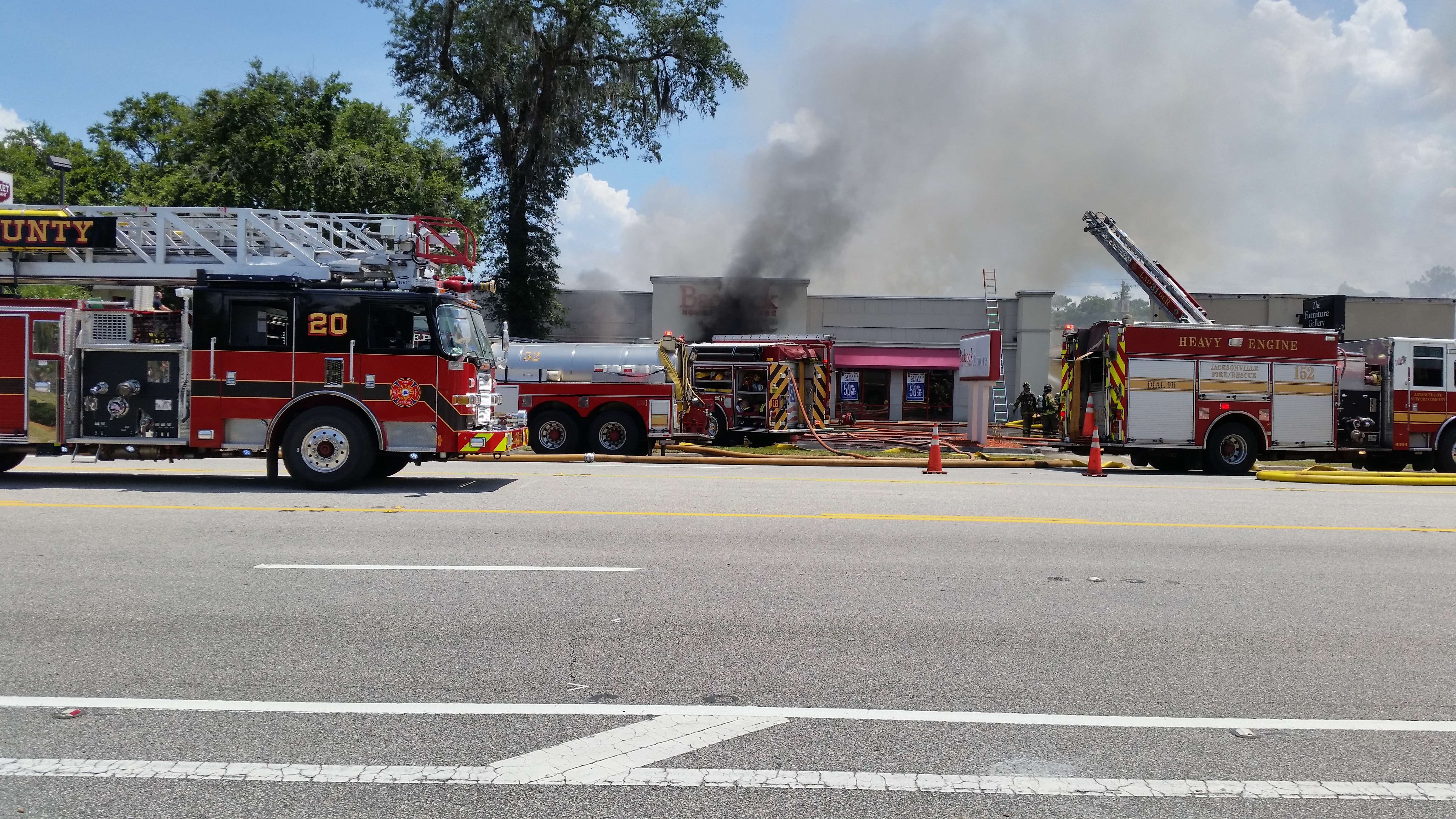 fire marshal badcock furniture store near total loss after blaze