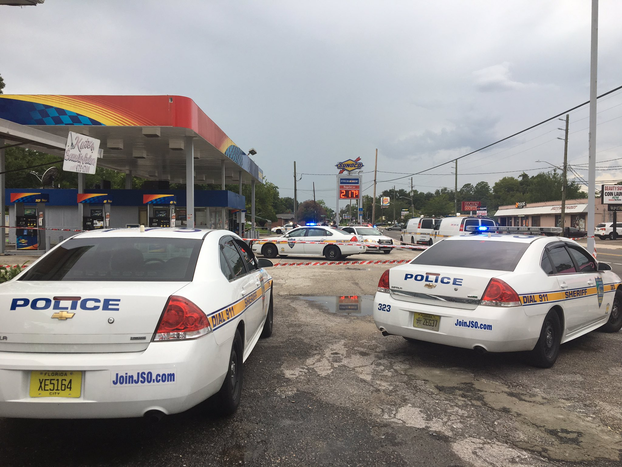 man shot several times at sunoco gas station on kings rd