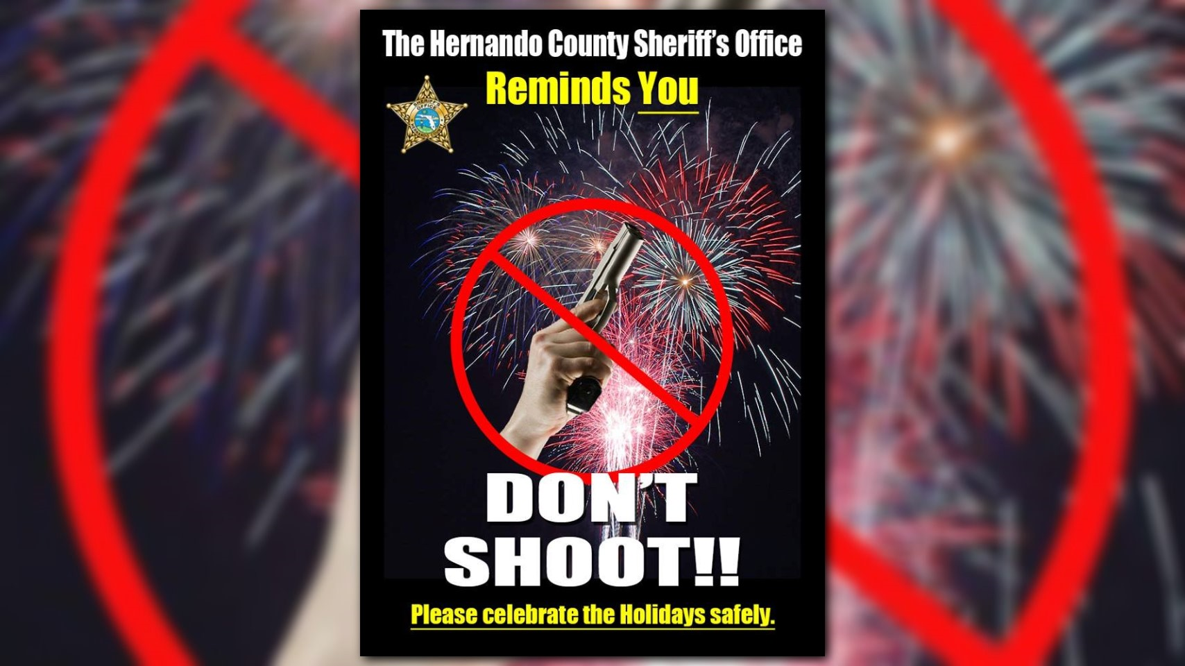 Florida sheriff's office warns against 'celebratory ...
